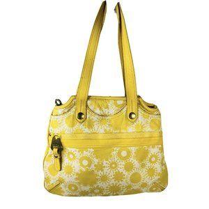 Marc Jacobs Yellow Daisy  Pebbled Leather Handbag